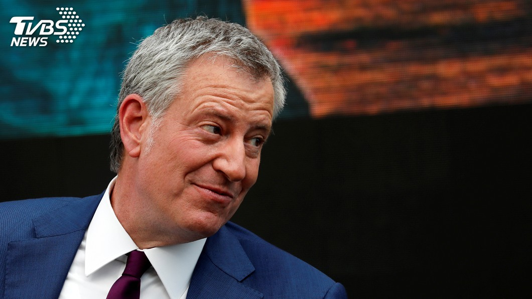 圖/達志影像美聯社 紐約市長宣布選總統 川普酸:史上最爛市長