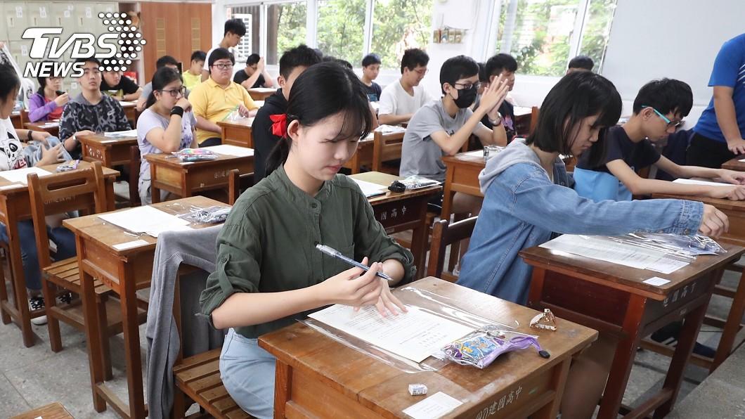 國中教育會考19日正式落幕。圖/中央社 少子化影響!會考17分 就可望上北市公立高中
