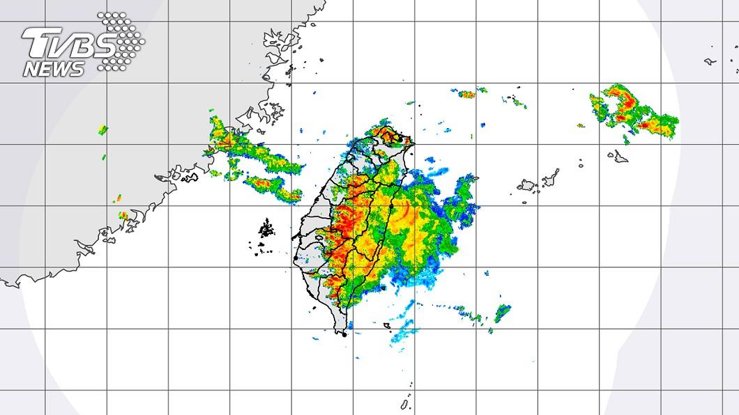 圖/截自中央氣象局 最新!雨區向北擴大 全台17縣市防豪大雨