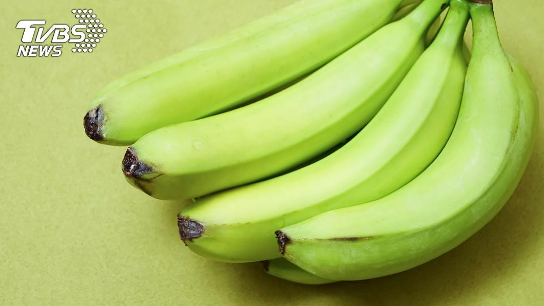 綠色香蕉有助於緩解拉肚子。示意圖/TVBS