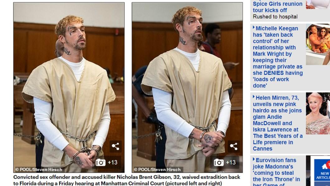 吉布森在法院上說自己從13歲就開始殺人。圖/翻攝自每日郵報