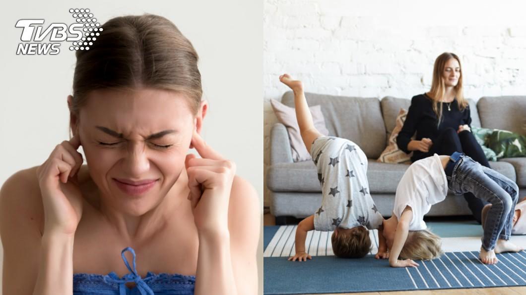樓上的小孩每天吵鬧,讓他無法休息。示意圖/ 樓上小孩噪音轟炸 他崩潰求助反被問:怎麼不搬家?