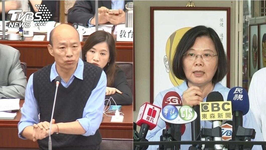 圖/TVBS 民調/民眾黨首次民調8% 韓支持度48%.蔡45%