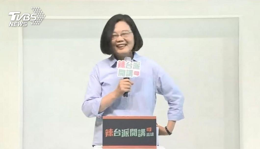 蔡英文。圖/TVBS 總統:執政3年有成 給我更多時間台灣會不一樣