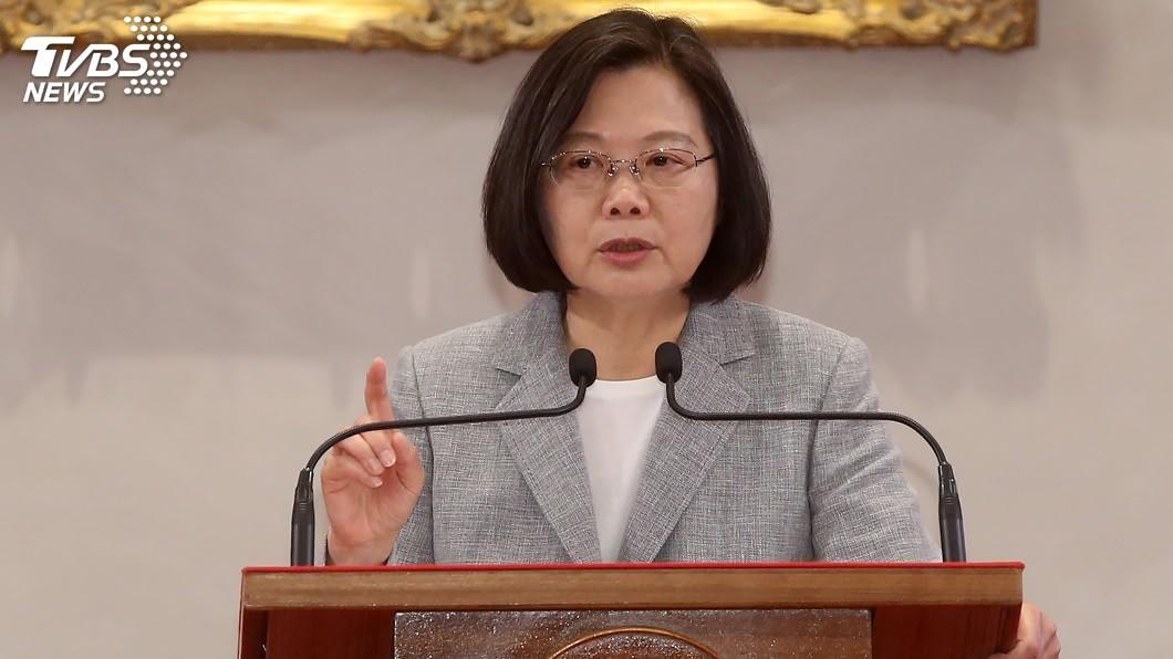 圖/中央社 蔡總統:執政3年扭轉國民黨錯誤 迎來投資大爆發