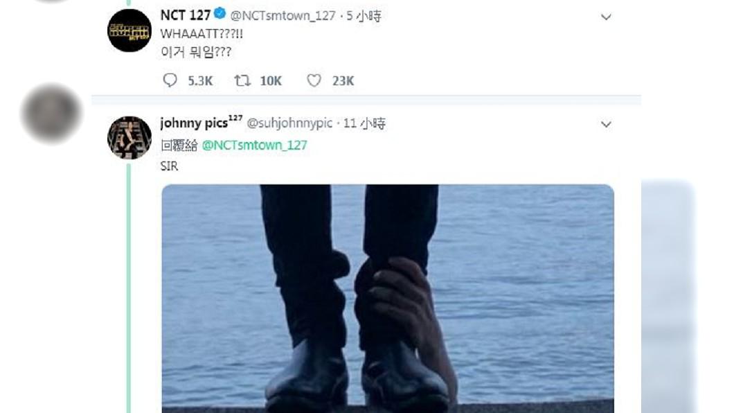 NCT127成員在玹PO的照片出現鬼手,官方還親自回應。圖/翻攝自NCT127官方推特