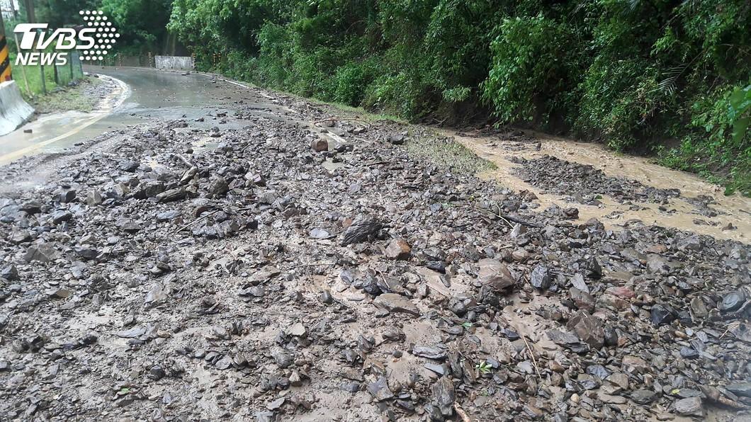 示意圖/中央社 颱風利奇馬帶來降雨 新竹7條土石流紅色警戒