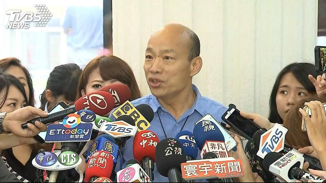 高雄市長韓國瑜。圖/TVBS 臉書貼文首篇按讚沒破萬 名嘴:韓國瑜警訊出現了!