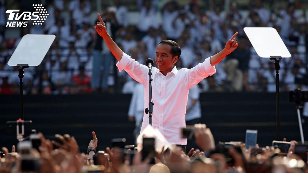 圖/達志影像路透社 印尼總統佐科威連任成功 大勝對手10.8%