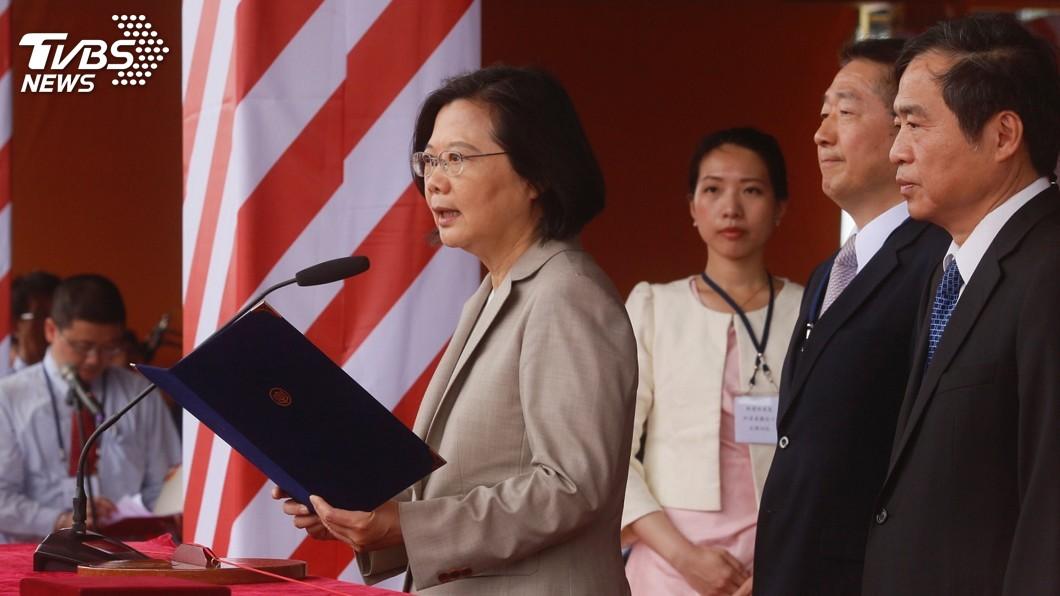 圖/中央社 蔡總統:三年來政績好 民調持續往上提升