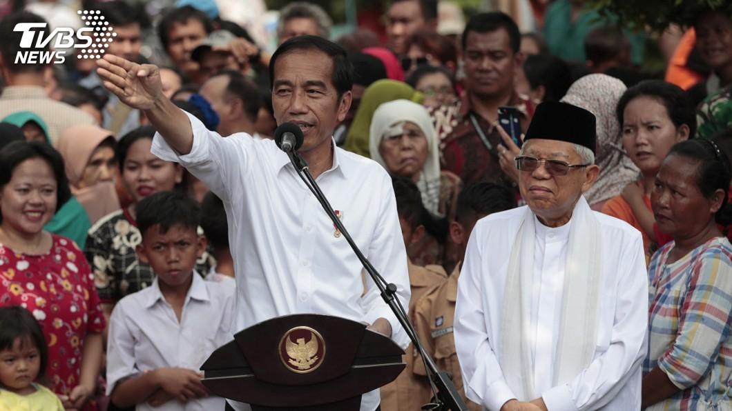 圖/達志影像美聯社 印尼總統佐科威宣布勝選 對手稱舞弊猖獗拒認輸