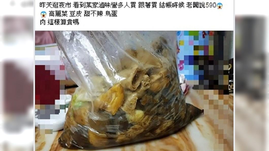 網友PO出滷味照片,詢問這樣是否太貴。圖/翻攝自臉書斗六人文社交圈