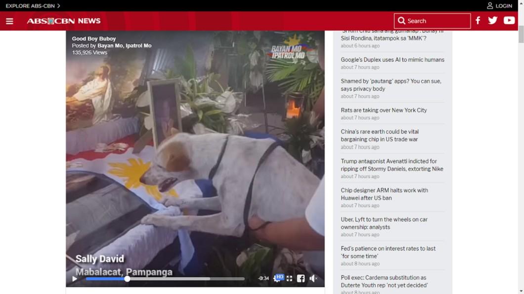 Buboy不肯離開馬塞洛。圖/翻攝自ABS-CBN News