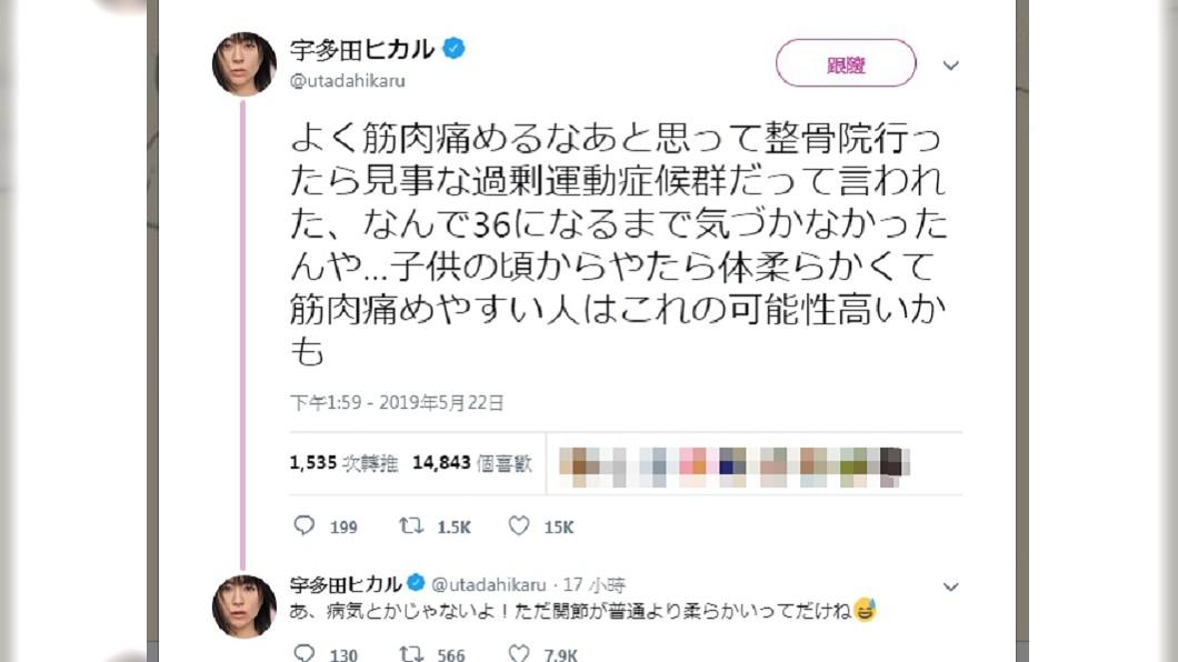 圖/翻攝自宇多田光推特