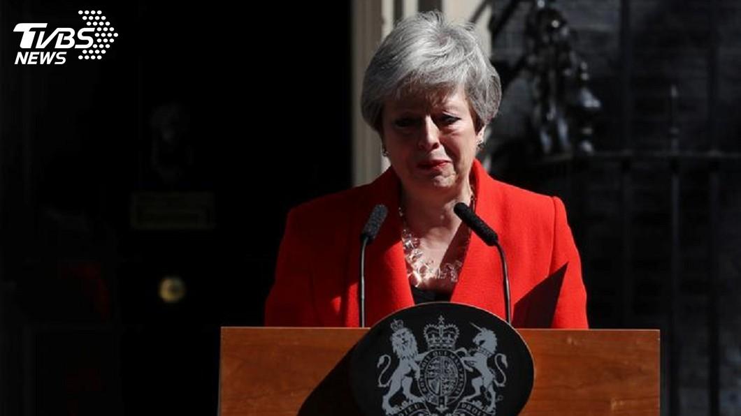 英國首相梅伊。圖/達志影像路透社 梅伊將辭保守黨魁 化解脫歐僵局成接班人課題