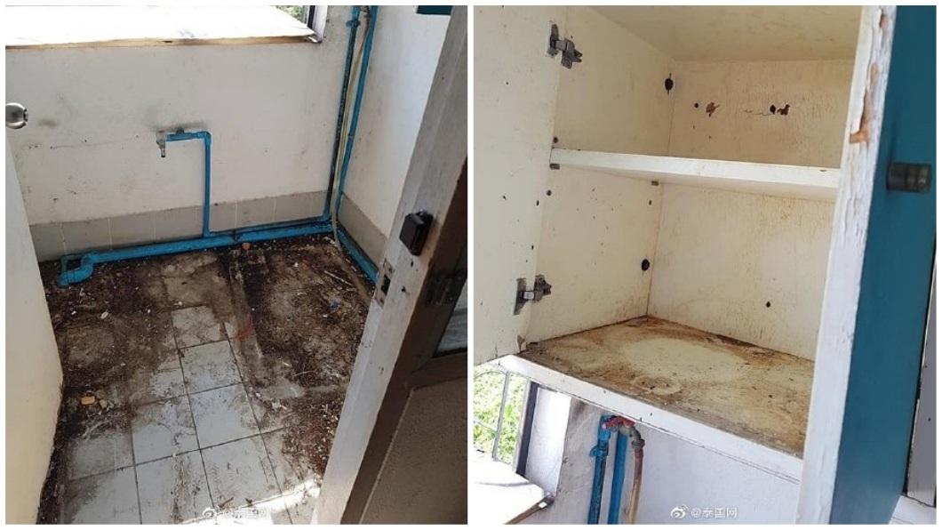 除了浴廁之外,屋內其他地方無一倖免。(圖/翻攝自泰國網微博)