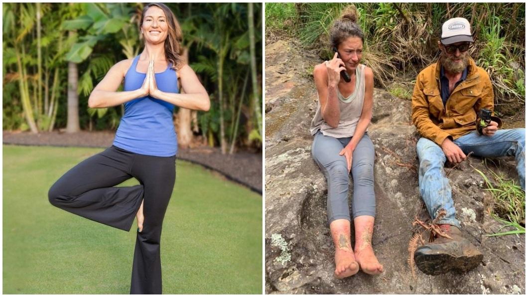 美國一名瑜珈女老師日前到夏威夷一處森林保護區,不料卻成為一場驚魂記。(圖/翻攝自臉書粉絲團)