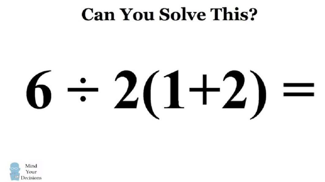 先前這道數學題,也讓許多網友都答錯了。(圖/翻攝自YouTube)