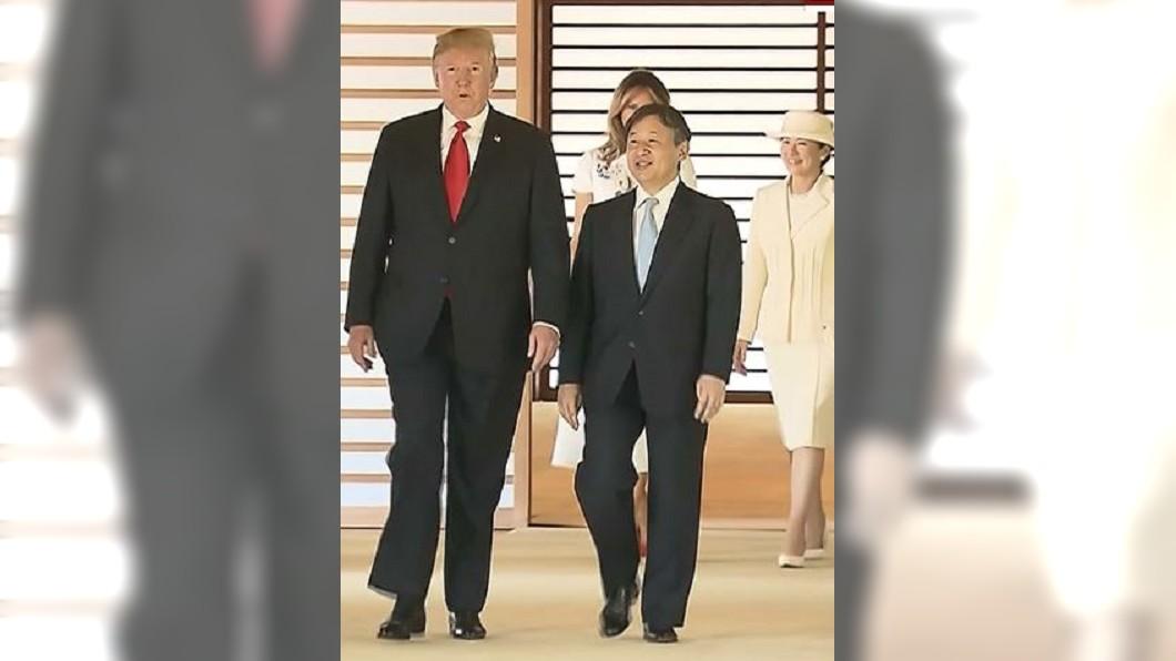 圖/圖翻攝自NHK  日本令和第一位國賓 德仁天皇與川普相見歡