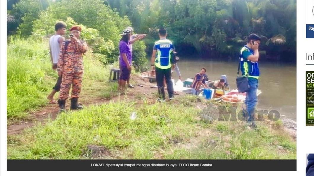 男子疑似遭鱷魚攻擊,不幸身亡。圖/翻攝自MyMetro 男運貨離奇失蹤 2天後成浮屍遺體被「啃食」過