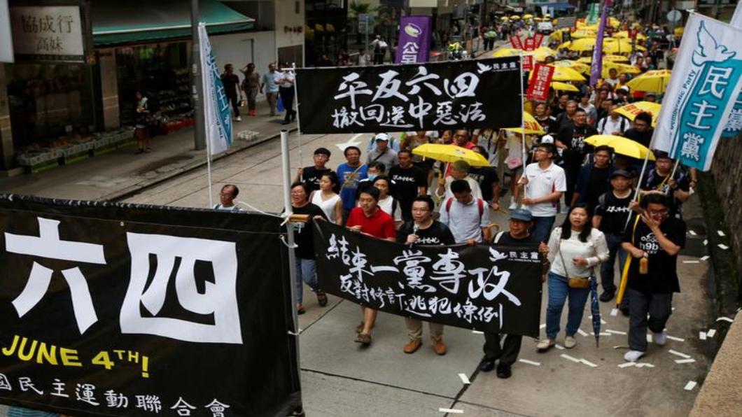 圖/達志影像路透 轉眼30年 香港紀念六四.引渡爭議發酵