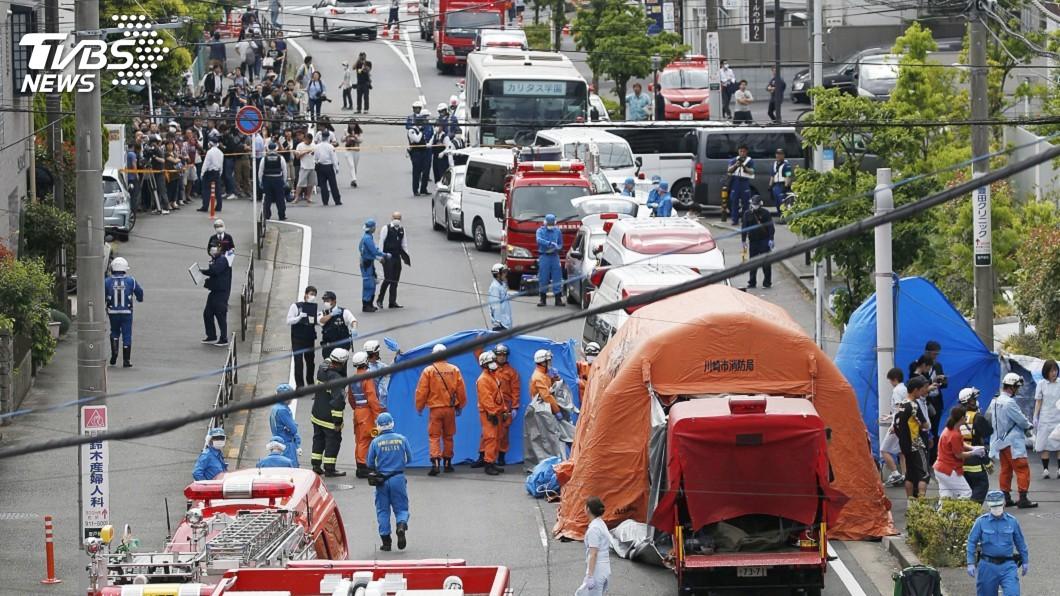 圖/達志影像路透社 日男持刀砍16人1女童死亡 嫌犯自盡身亡