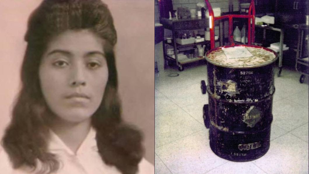 圖/翻攝自推特 悚!搬家發現百斤鐵桶 屋主打開驚見「藏30年孕屍」