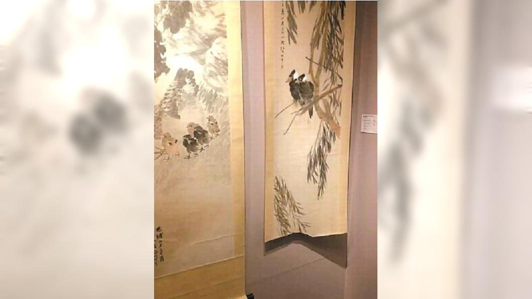 圖/翻攝自新聞晨報 清代任伯年千萬畫作 展覽遭童撕毀