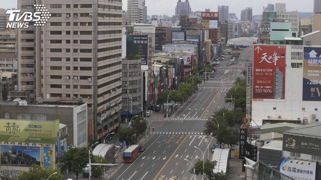 圖/中央社 南部萬安42號演習 高市街頭瞬間空無一人