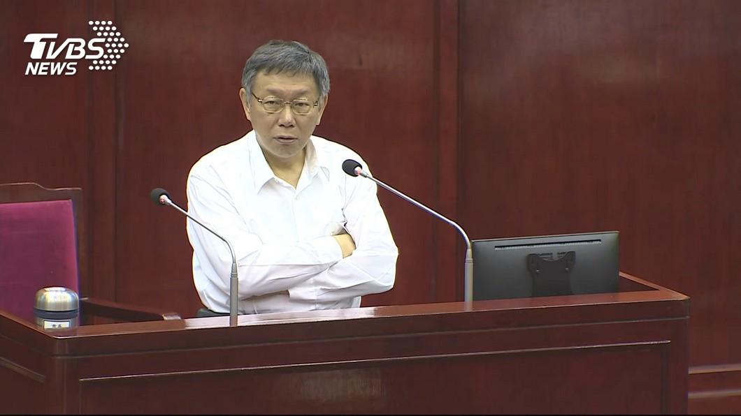 台北市長柯文哲。圖/TVBS 民生汐止線何時蓋? 柯文哲:像盲腸一樣沒用