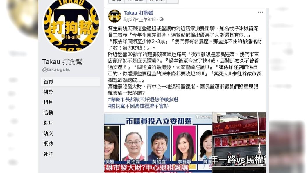 圖/翻攝自臉書「Takau 打狗幫」