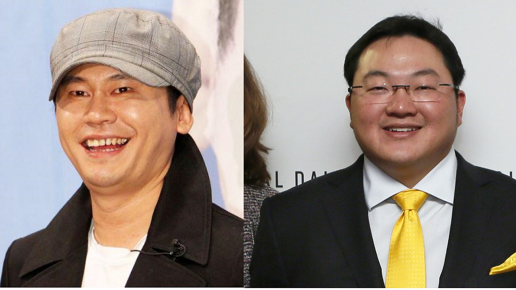 YG娛樂社長梁鉉錫(左)、馬來西亞富商劉德祖(右)圖/翻攝微博、達志影像美聯社 YG社長性招待富豪名單曝光 他曾砸千萬求愛蕭亞軒