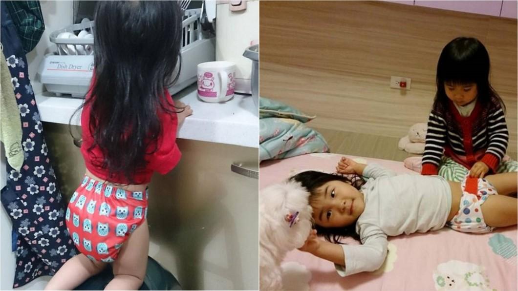 主播王軍凱的孩子也有使用布尿布。圖/翻攝妞媽 LISA LI X 妞爸169 分享愛