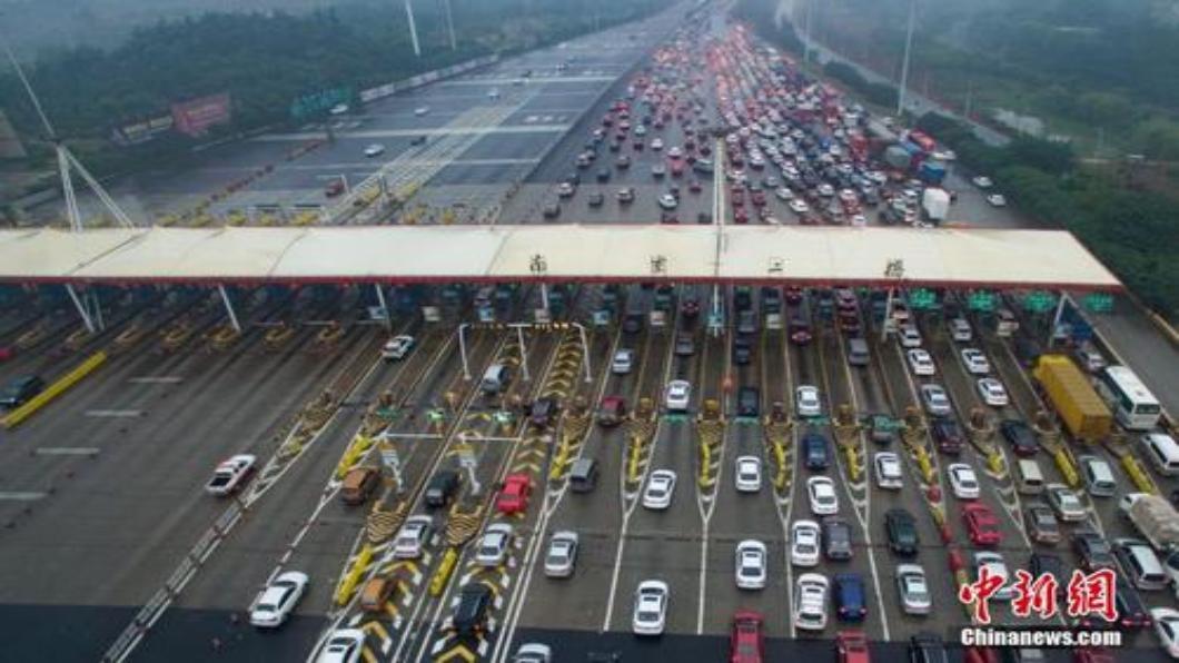 圖/中新網 取消高速公路人工收費  大陸ETC產業走紅