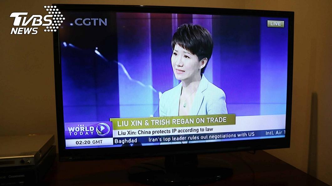 美中女主播辯論,CGTN專訪劉欣 圖/中央社 【觀點】中美貿易談判桌外 精采的場邊插曲
