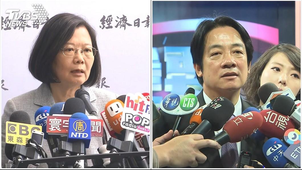圖/TVBS 蔡英文總統初選勝出 國民黨:比賴清德好打
