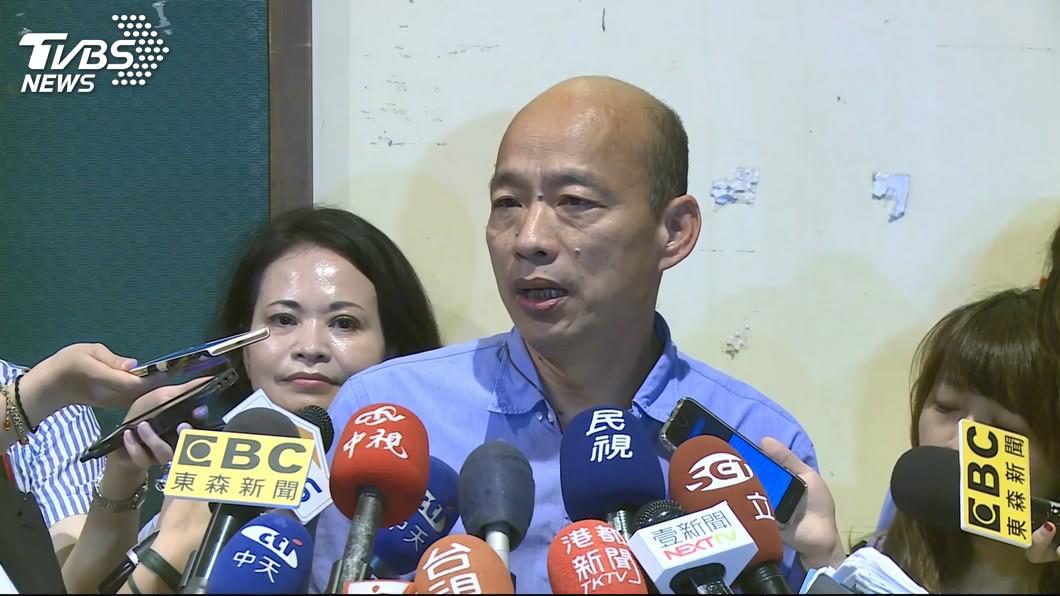 高雄市長韓國瑜。圖/TVBS資料畫面 韓國瑜遭爆「外遇生女」!他分析:是國民黨弄的