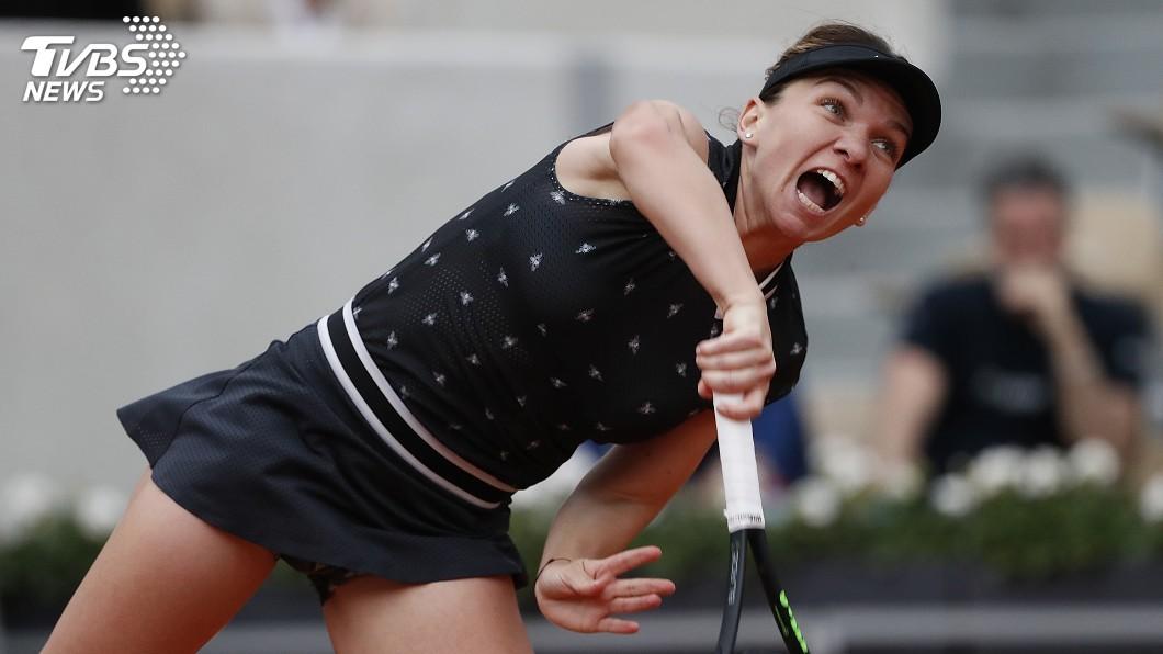 圖/達志影像美聯社 法國網球公開賽 女單衛冕者哈勒普驚險晉級