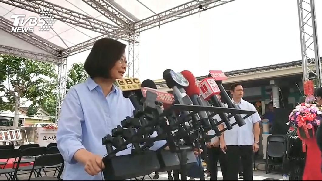 圖/TVBS 蔡總統赴台南 賴清德:崑濱伯接待很正常