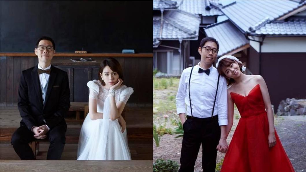 圖/翻攝自夏于喬臉書 情定43歲導演男友 夏于喬甜曬結婚照大方放閃