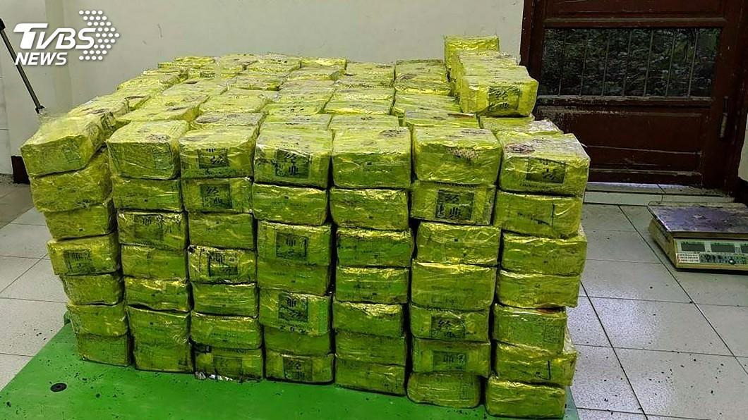 圖/中央社 400公斤安毒混茶葉 貨櫃進口入台遭破獲