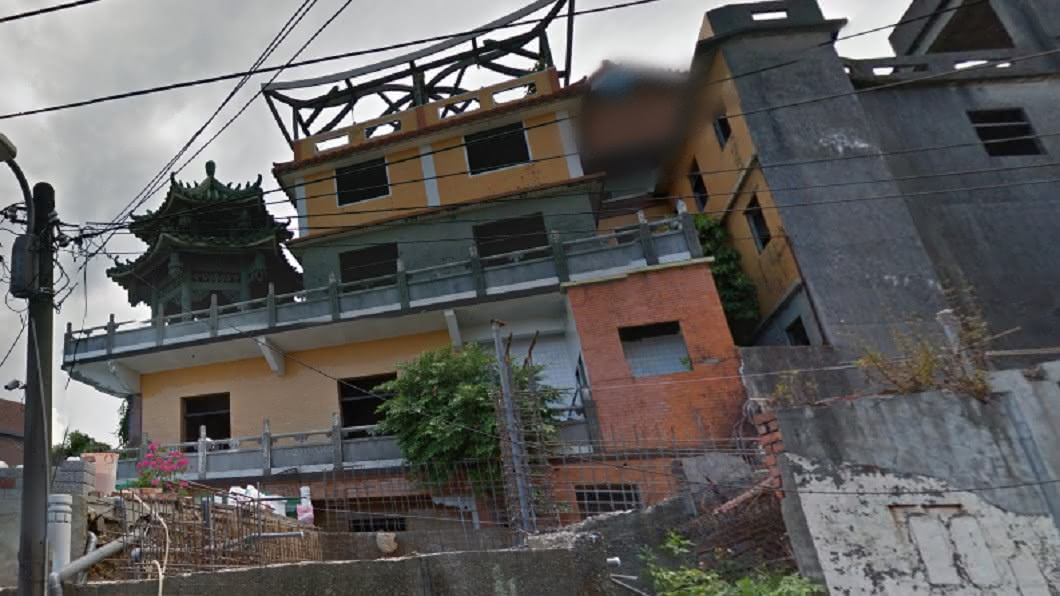 基隆淨因寺荒廢多年。(圖/翻攝自Google地圖) 太鐵齒!青少年夜闖「基隆鬼廟」搞破壞 網怒:會有報應