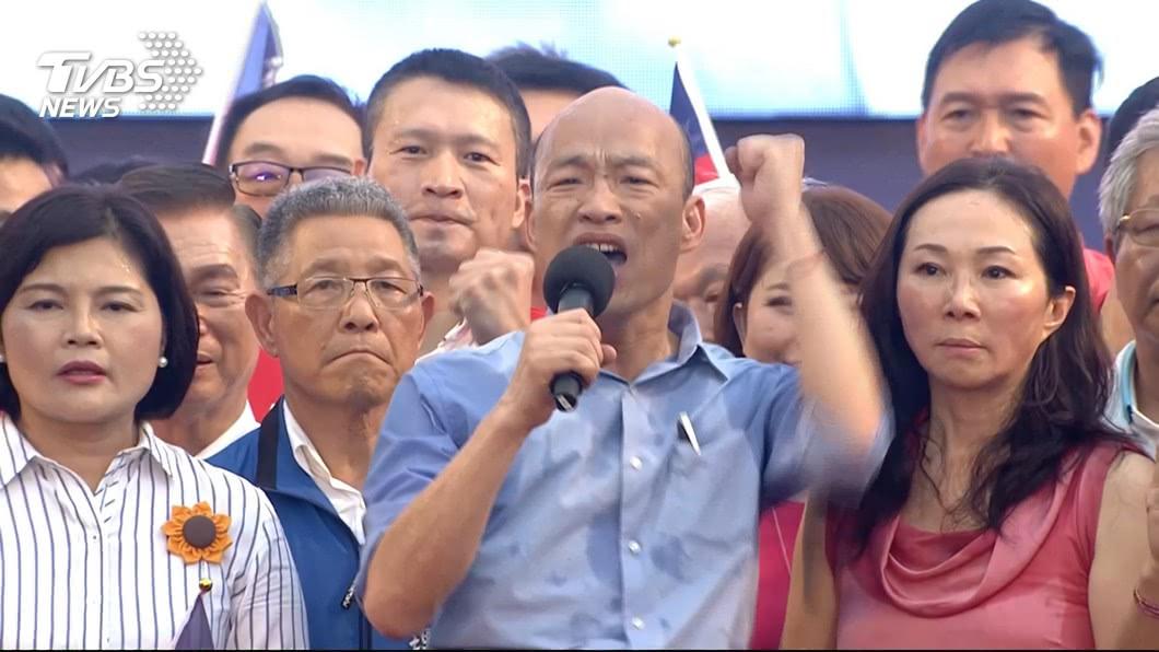 高雄市長韓國瑜。圖/TVBS資料畫面 韓國瑜造勢短片用朝天宮畫面  廟方怕誤解:要求下架