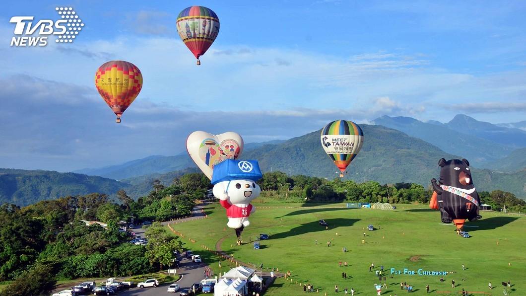 圖/中央社 國際熱氣球嘉年華6/29登場 40顆造型球等你追求