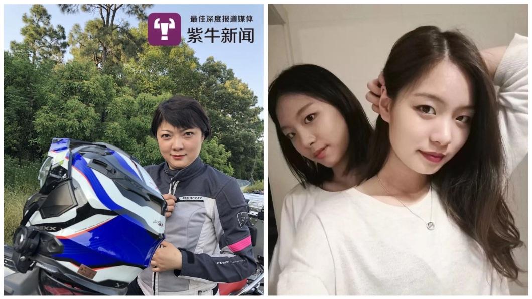 南京有一名辣媽騎士,她獨自撫養雙胞胎女兒。(圖/翻攝自紫牛新聞) 不老辣媽!騎重機橫跨歐亞大陸3.8萬公里 只為看愛女
