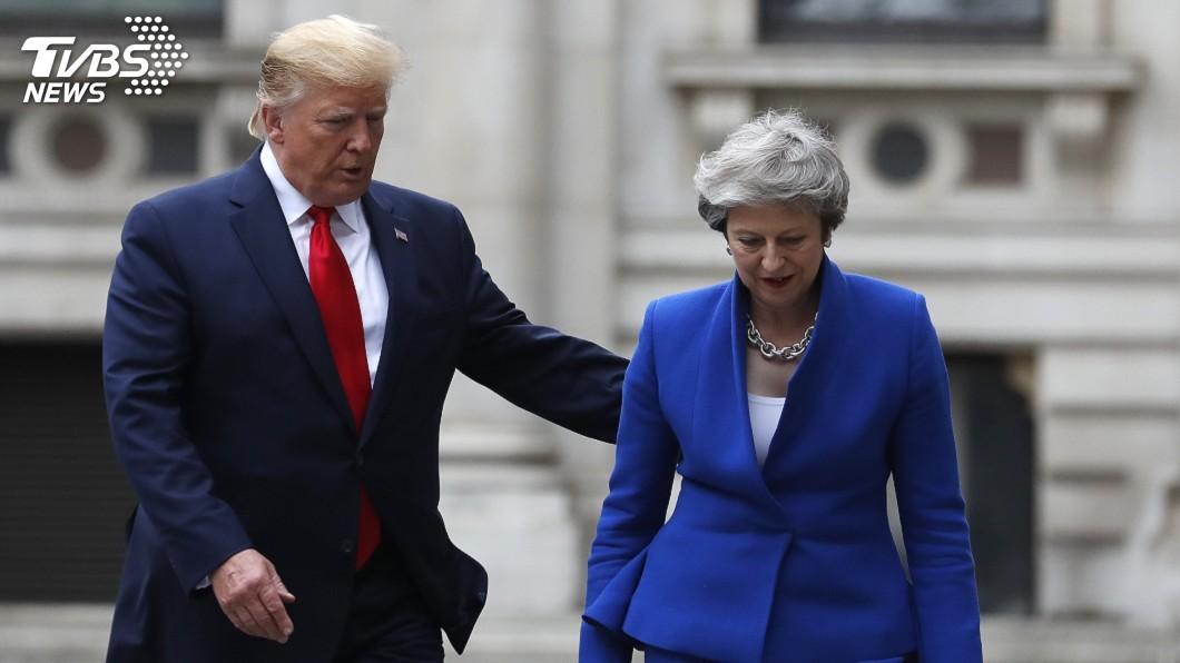 圖/達志影像美聯社 川普承諾美英貿易協議 條件是插手NHS