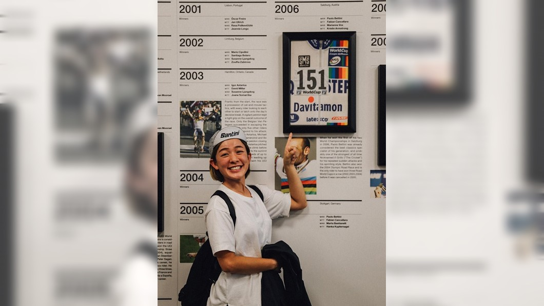林彥君貼出車衣照片,說歡迎大家到Santini義大利總部看她「原汁原味」的車衣。圖/翻攝林彥君151臉書