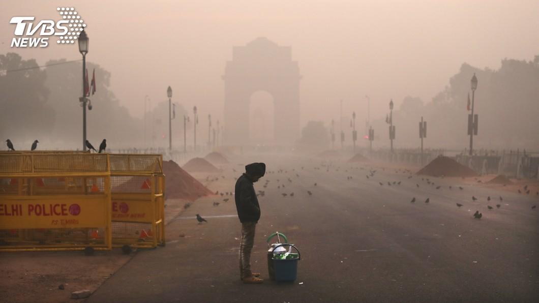圖/達志影像美聯社 毒空氣籠罩上空 印度每年逾10萬兒童死亡
