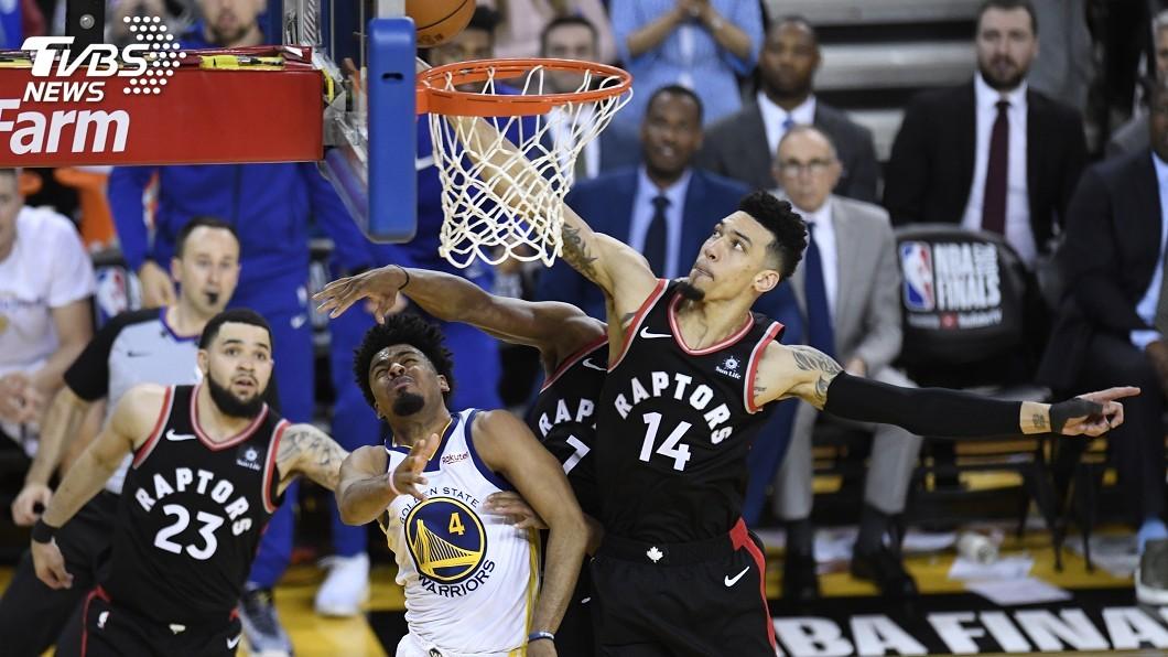 圖/達志影像美聯社 NBA總冠軍賽第3戰 暴龍擊敗勇士2比1領先