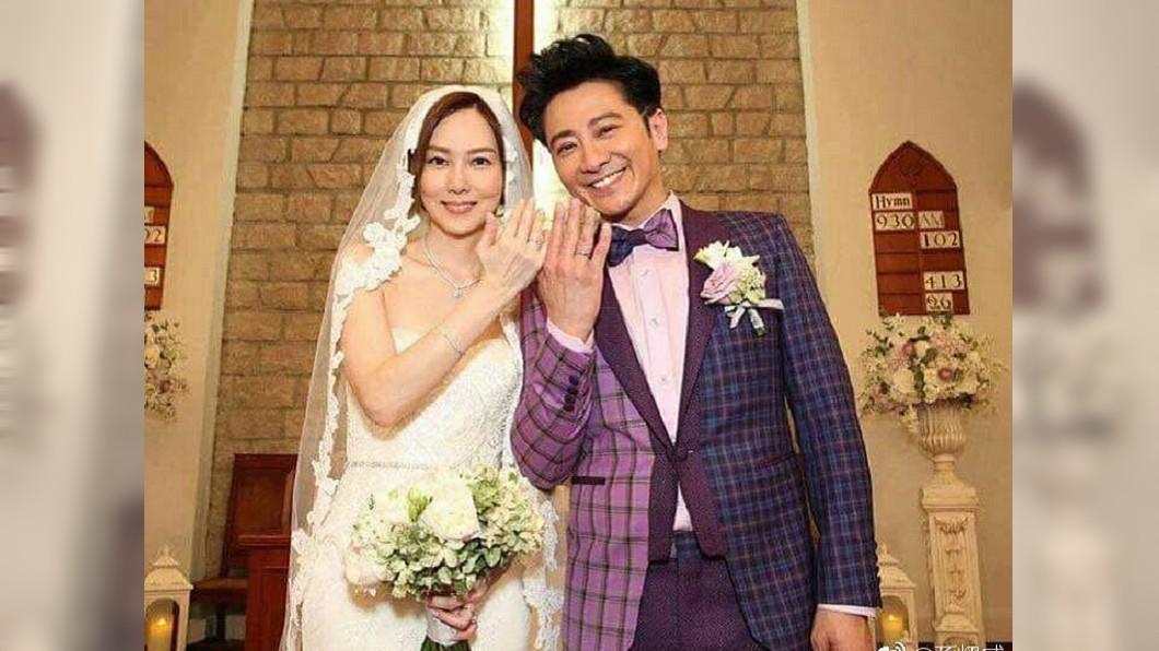 孫耀威與陳美詩結婚快2年,是香港演藝圈中的模範夫妻。圖/翻攝孫耀威微博 婚姻危機?孫耀威自爆已與老婆分房 生小孩只能隨緣